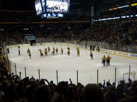Predators Hockey entire rink